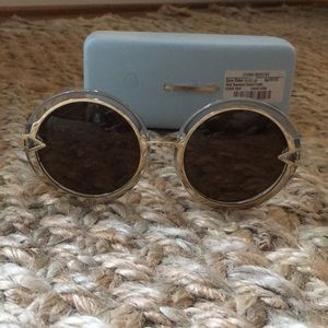 Karen Walker Round Orbit Oversized Sunglasses